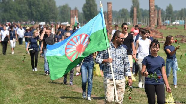 At Auschwitz, Roma and Sinti from 25 European countries have commemorated the 70th anniversary of Nazi Germany's attempted genocide of their race. On August 2, 1944, nearly 2,900 Roma and Sinti were gassed at the camp. source: Deutsche Welle 2014