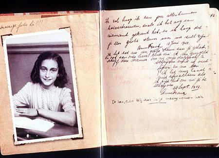 Φωτογραφία: σελίδα από το ημερολόγιο της Άννα Φρανκ