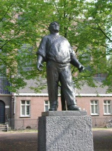 Ο λιμενεργάτης Μνημείο που βρίσκεται στο Άμστερνταμ για την απεργία.
